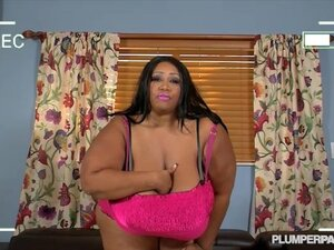 Huge Tit Black BBW Cotton Candi Fucks Her Ex's Friend