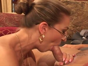 Horny milf gets drilled by a young cock