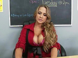 Busty Mean Teacher Alanah Rae Fucks Her Former Student