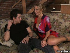 Julia Ann wonders if that really is a stairway to heaven in this video