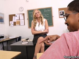 Hot blonde teacher Julia Ann seduces her student in order to fulfill her fantasies