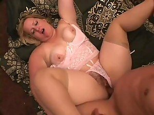 Chubby Blonde In Sexy Lingerie Gets A Hardcore Fuck