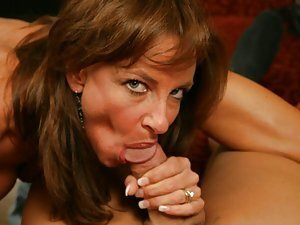 This naughty milf is going for sport and aerobics and she wants her body looked great and fit. That's why she spends so much time in fitness club. Her coach is so hot and strong, and his dick is so huge that she can't wait for a new work out to begin. The