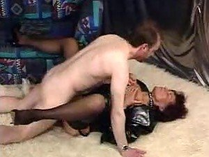 Fetish mature with pierced cunt fucked