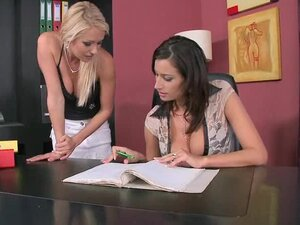 Office lesbians Alexa Weix and Janelle are going wild
