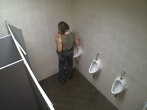 Candid girl in public toilet