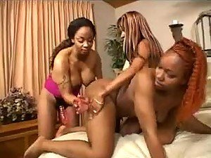Black lesbians bring out the strapon cock
