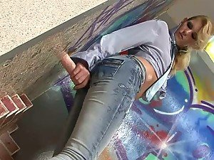 Stunning Blonde Teen Katty Lee Gets Covered with Cum In Gloryhole Video