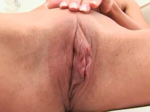 Lovely Chick with Blond Hair Masturbates Her Holes in the Bath
