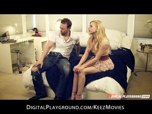 Sexy blonde Lexi belle goes down on her man on the first date
