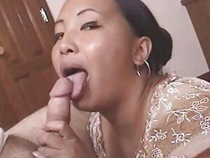 Nasty mature Asian gets cumfaced after hot blowjob