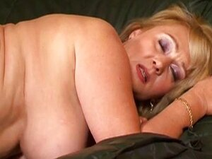 Hairy big tit blonde takes a pounding