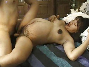 Pregnant Asian girl fucked in hot pussy