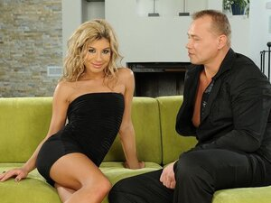 Ioana is an exotic looking blonde. Watch this super slut take on some older dude.