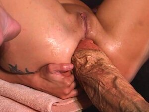 Hard action dildo penetrations