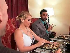 Creampie For Blonde Madison Ivy after Doggy and Cowgirl Style Fucking