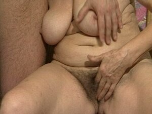 The sexy granny fucked by a young cock.