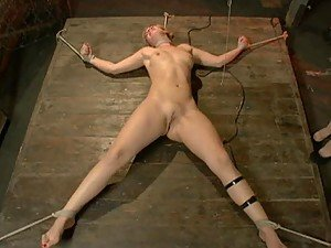 Gorgeous Blonde Severely Toyed in Wild BDSM Lesbian Porn Video