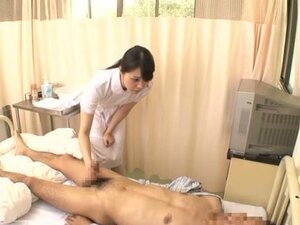 Beautiful Asian Nurse Jerking Off a Patient in Handjob Video