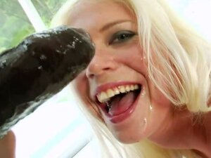 Jayda Diamonde covered with cum of black guy on face