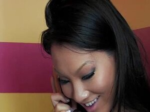 Horny Asa Akira enjoying phone sex