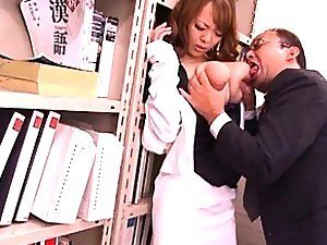 Hitomi Tanaka fleshy boobs squeezed after they are pulled out