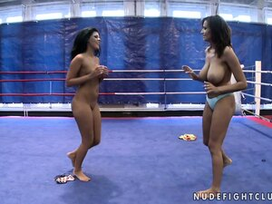 Madison Parker and Janelle are up to some serious lesbian wrestling