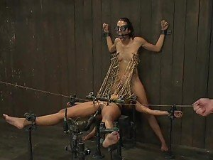 Hot Babes Are Tortured Before Devouring A Hard Cock