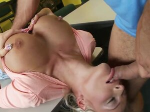 Jordan Pryce is a naughty schoolgirl with big boobs. She knows how to seduce people and ride on their cocks. Ramon has a big yummy tool in his pants and Jordan sure wants to taste it