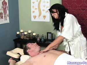 He loves visiting this massage parlor staffed with busty nymphos