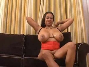 Ebony milf Jasmine gives a titjob and enjoys ardent anal sex