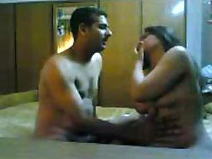 A risky Arabian couple film themselves getting nasty in their bedroom shagging silly