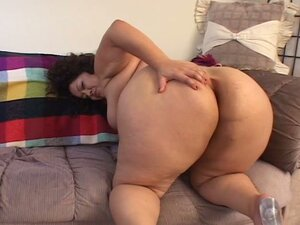 Horny fat woman sucking on a hard cock