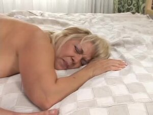 Blonde granny gets her bum smashed in various positions
