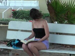 Tristan Berrimore is getting outdoor cumshot over blouse on the hidden cam