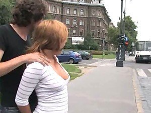 Redheaded Babe Is Treated Like An Animal In Public