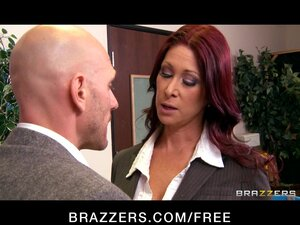 Horny redhead principle Tiffany Mynx fucks the new school teacher