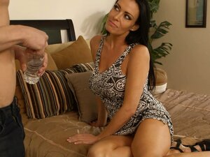 Vanilla DeVille, an attractive brunette milf, reveals her passion for big cock