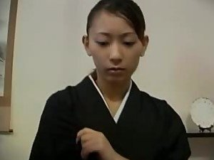 Asian In Typical Japanese Outfit Sucks and Fucks In Hot Porn Video