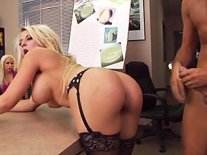 Office Sex with Busty Blonde Madison Ivy