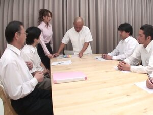 Board of director test sex toys on office slut Anna Mizukawa