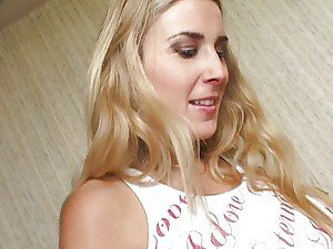 Blonde is pregnant and horny