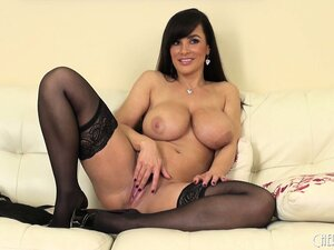 With her pantyhosed legs wide open, Lisa has a dildo roaming around her wet cunt