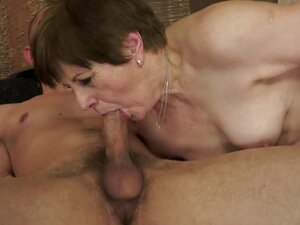 Lewd granny Piros gets her snatch pounded and filled with jizz