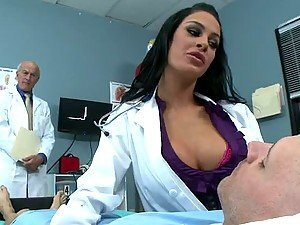 Amazing Sex with The Stunning Brunette Doctor Angelina Valentine
