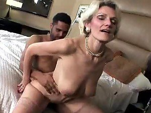 Blonde Housewife Rides A Black Guy's Hard Cock