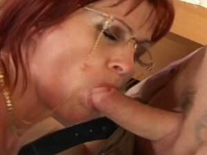Hardcore granny fucked in her office