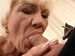 Blonde granny Orhidea gets her hairy pussy licked and fucked