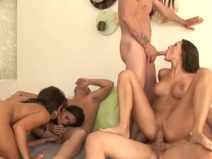 Group sex scene with slender Kourtney Kane