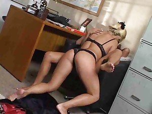 Hot pussy eating lesbians in the office